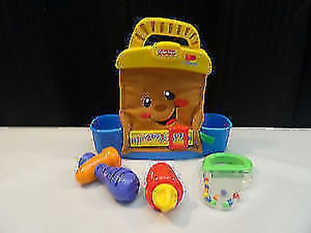 Fisher Price Talking Tool Box Bag Set W/ 3 Toy Tool Rattles