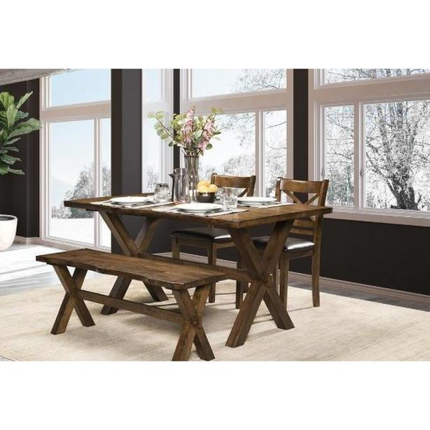 Live Edge Design Dining Set - Solid Hardwood - Brand New!