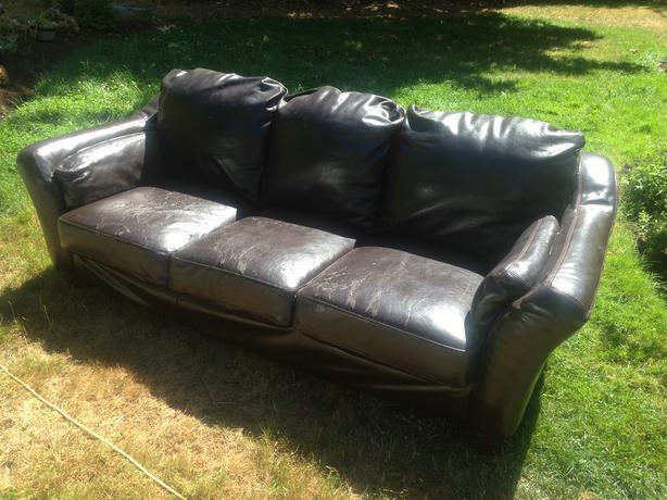 FREE: Leather Sofa