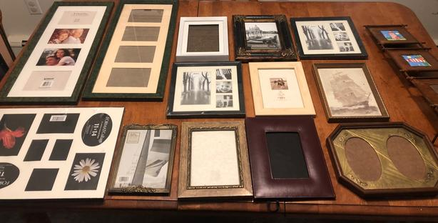 Picture Frames, Variety of Single and Multi Frames,  Medium Sizes