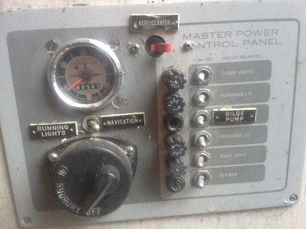 Marine Electric panel / switches and fuzes.