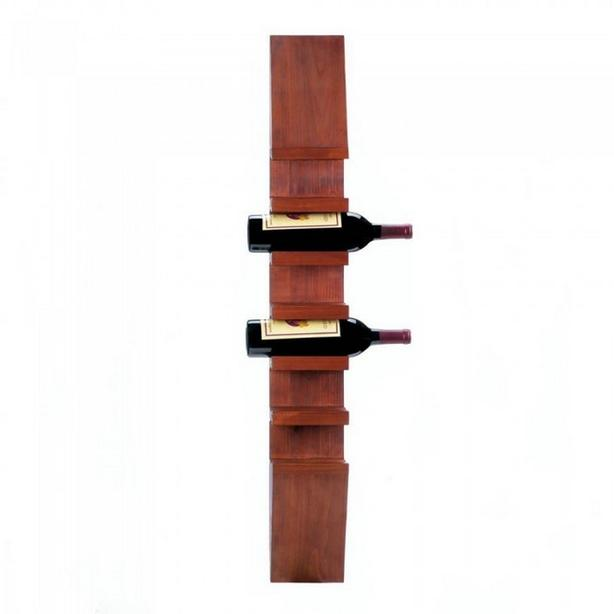 "40"" Wall-Mount Wooden Wine Bottle Holder Rack & Opener Accessory Set 2PC Mixed"