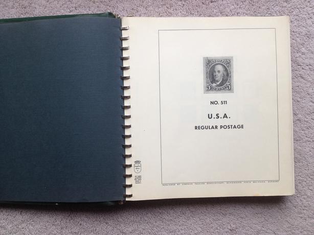 Lindner Hingeless USA Postage Stamp Album