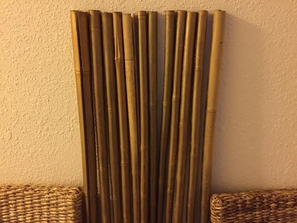 """bamboo painted gold 14"""" w x 60.5""""l"""