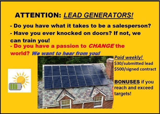 Lead Generators/Sales Reps Wanted!!
