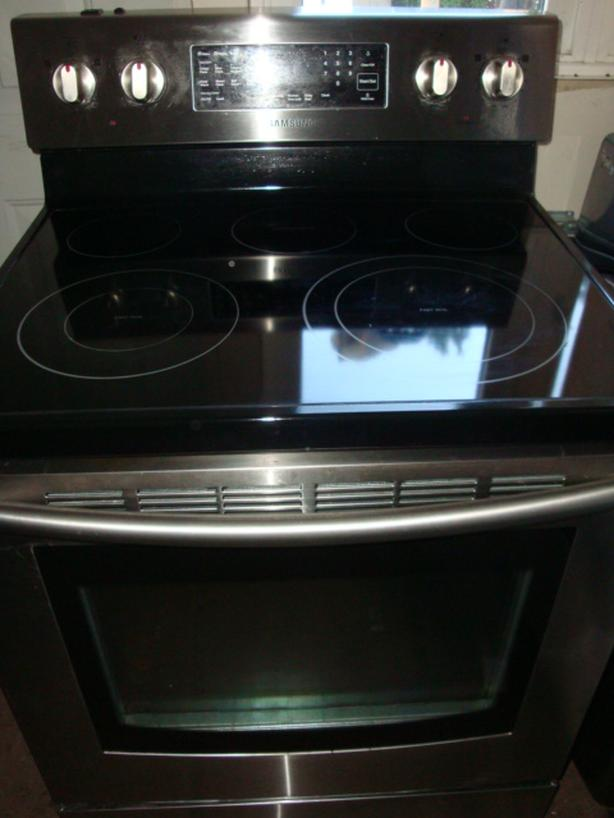 Samsung Flat Top Stainless Steel Stove Self Clean