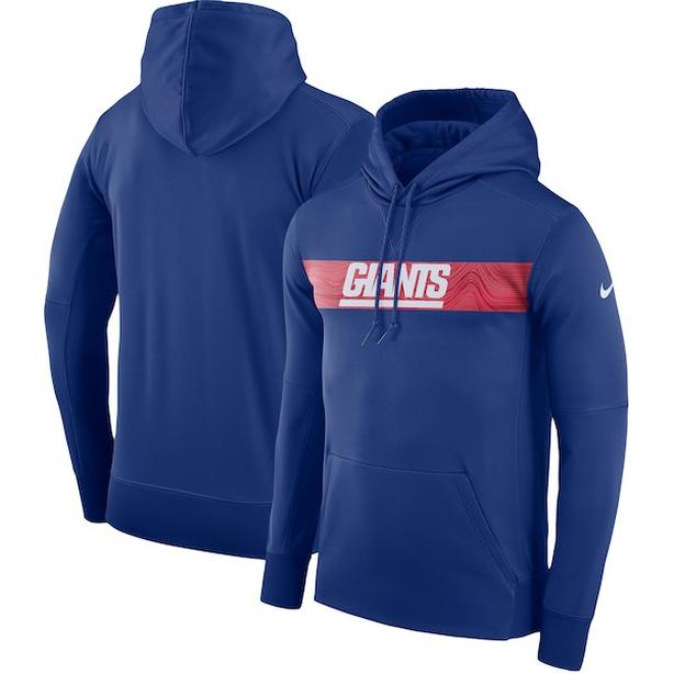 Nike Royal New York Giants Performance Pullover Hoodie