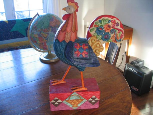 Beautiful wooden rooster