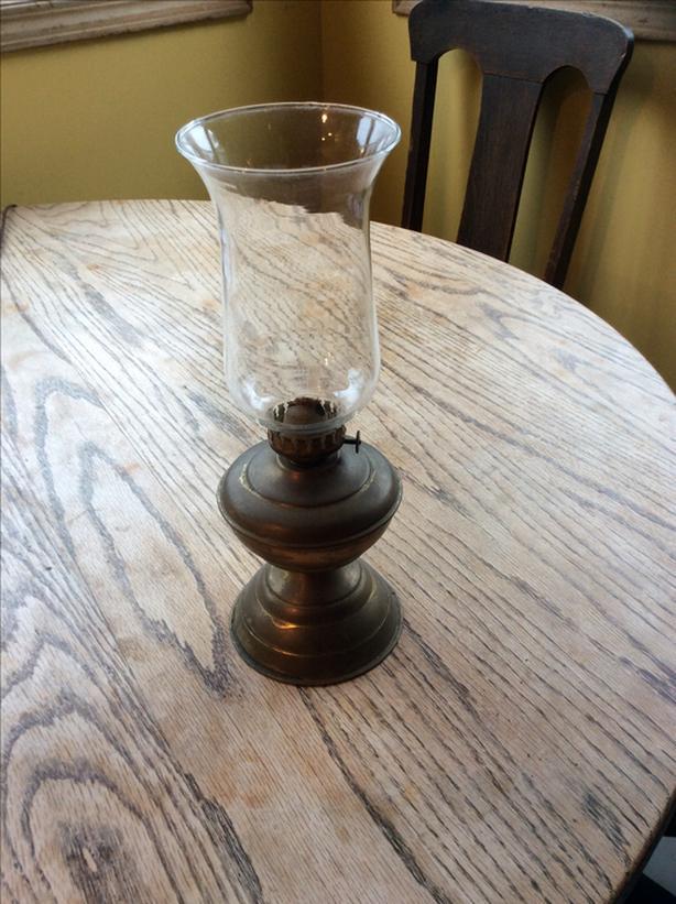 Small Antique Kerosene Lamp