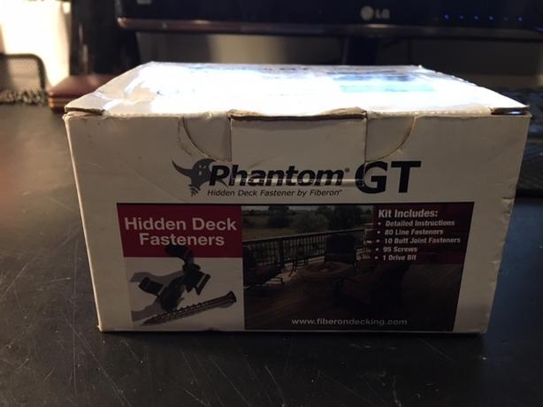 Phantom Hidden Deck Fastener Kit New plus more opened