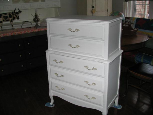 Victorian dresser - simply white