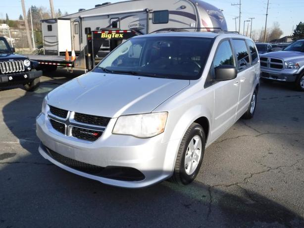 2012 Dodge Grand Caravan Stow n' Go 7 Passenger Van with Courier Shelving Rack