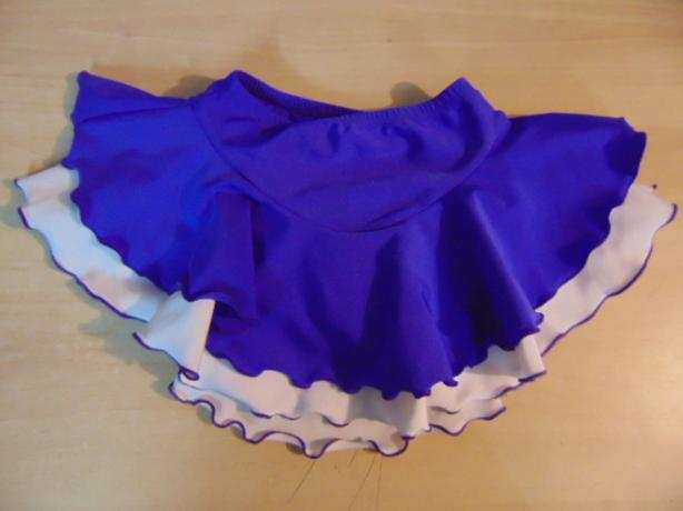 Figure Skating Dress Child Size 6-8 Skirt Purple Jerry's Stretch Nylon