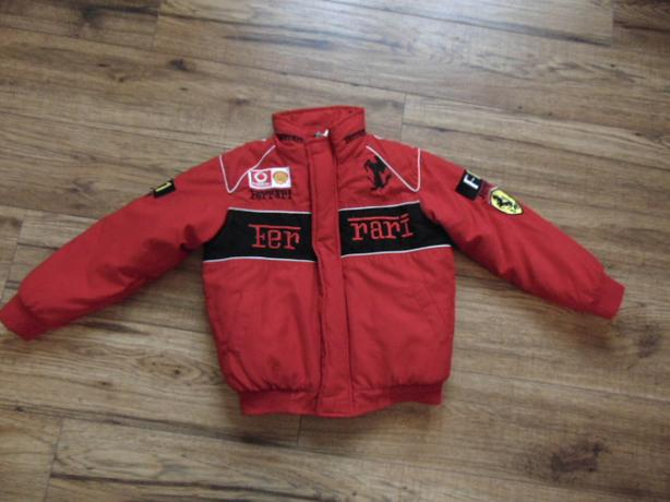 Winter Coat Child Size 8 Ferrari Red Bomber Style Excellent