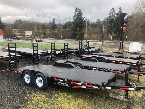 RAINBOW 2019 7X18 CAR AND EQUIPMENT TRAILER