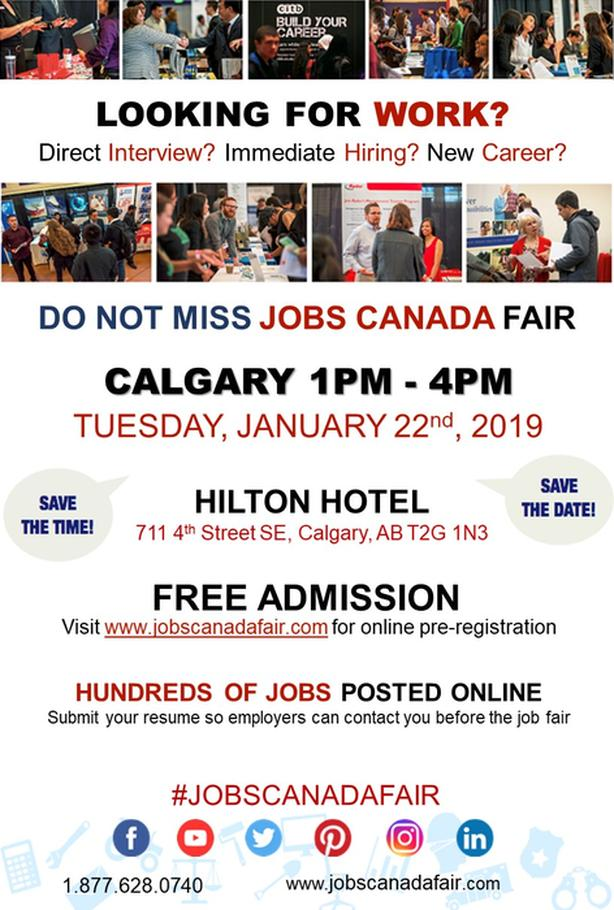 Calgary Job Fair - January 22nd, 2019