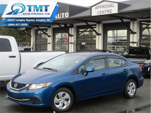 2013 Honda Civic Sedan LX  - Bluetooth -  Heated Seats - $63.03 B/W