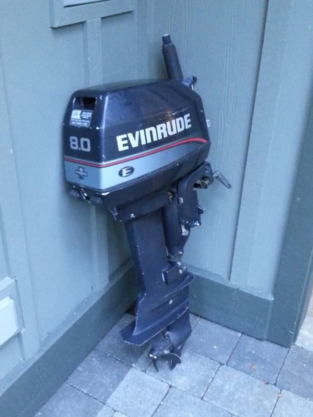  Log In needed $650 · Evinrude 8HP 2-stroke outboard engine