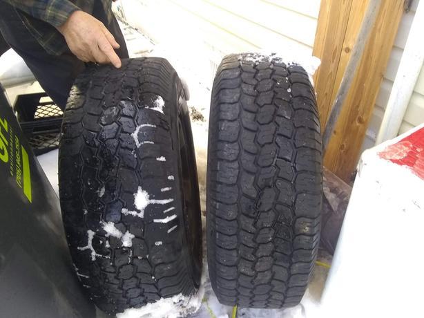 4 truck tires on rims