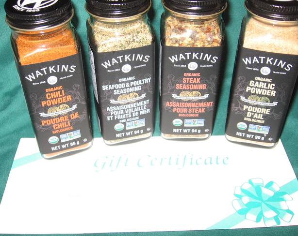 Buy,  new  organic spices   from Watkins I deliver
