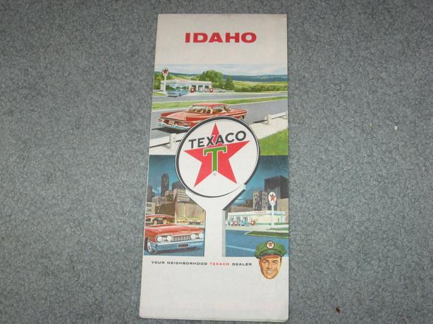 Vintage Texaco oil  road Map 1962 Idaho