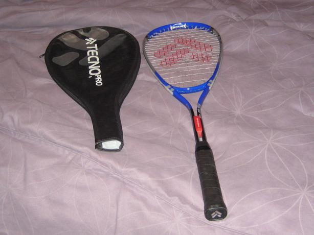 squash racket and case
