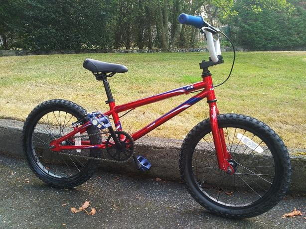 "like new Haro Z-series 18"" kids bike."