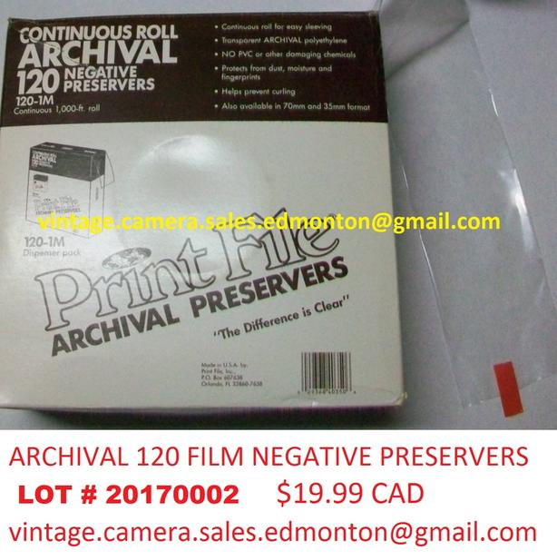 Archival 120 Film Negative Preservers
