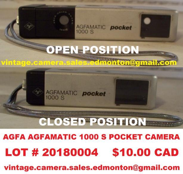 Agfa Agfamatic 1000 S Pocket Camera