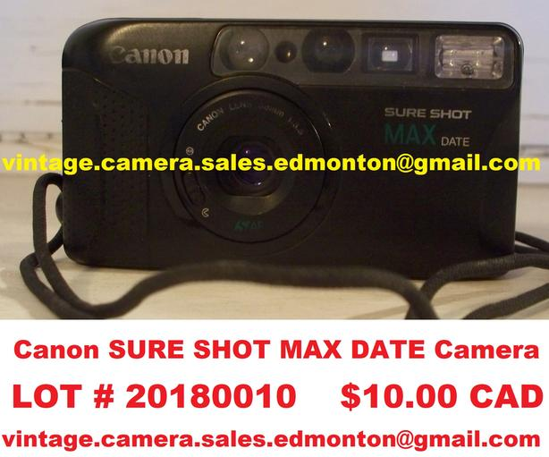 Canon SURE SHOT MAX DATE Camera