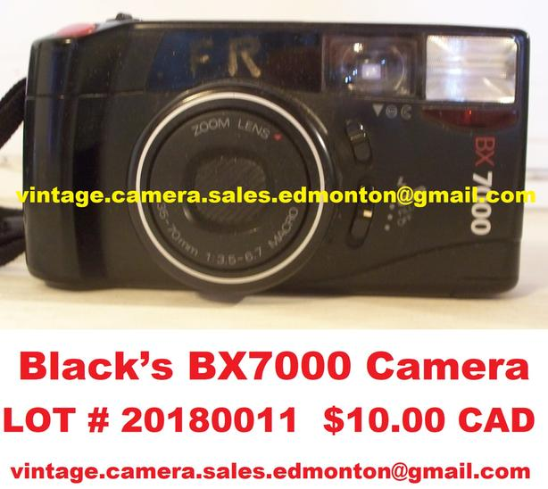 Black's BX7000 Camera