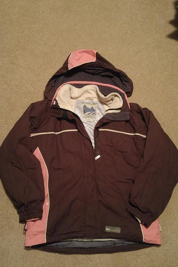 Winter Coat (3in1) Brown and pink **reduced**
