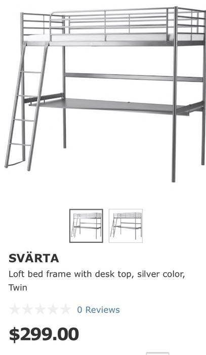 Ikea Svarta Twin Loft Bed Frame With Desk Victoria City