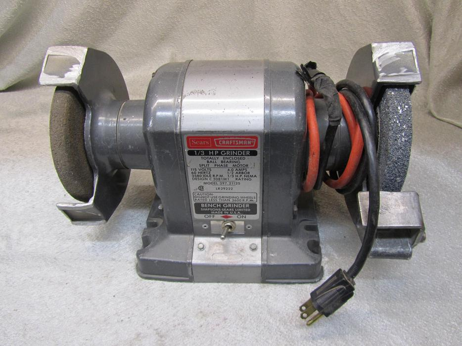 Pleasant 50 I 13479 Sears Craftsman 1 3 Hp Dual 6 Bench Grinder Made Is Usa Cjindustries Chair Design For Home Cjindustriesco