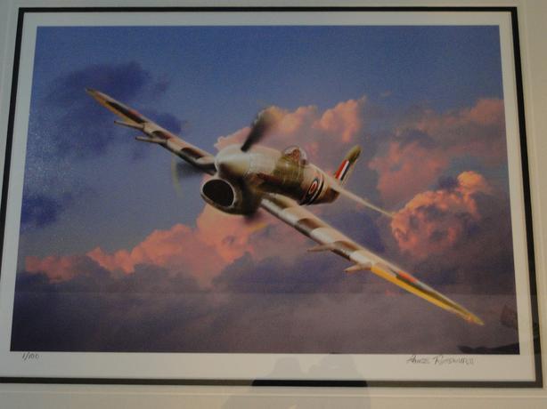Lance Russwurm Hawker Typhoon 1/100 framed print