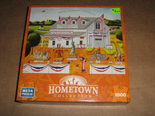 NEW  HOMETOWN  JIGSAW  PUZZLES  -  1000  PIECES