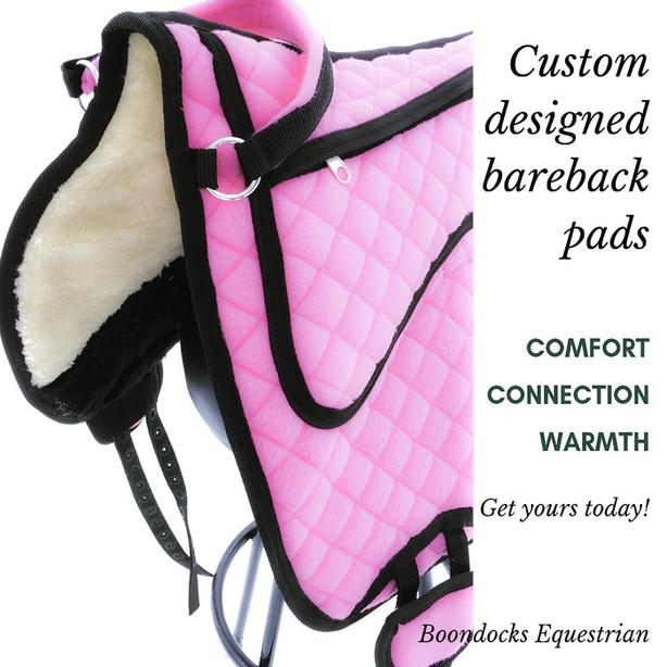Bareback Pads - DRYDEN - 2 pink ones left!