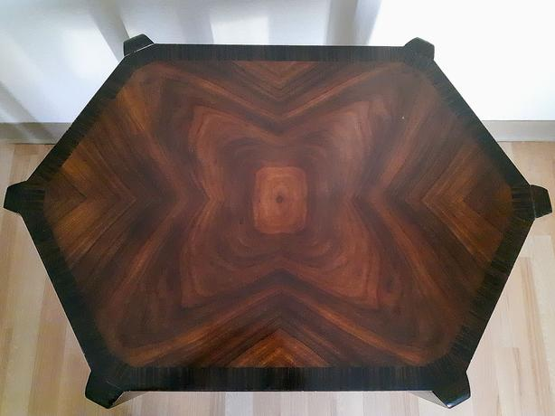 Vanucci Eclectics Art Deco Hexagonal Side Table