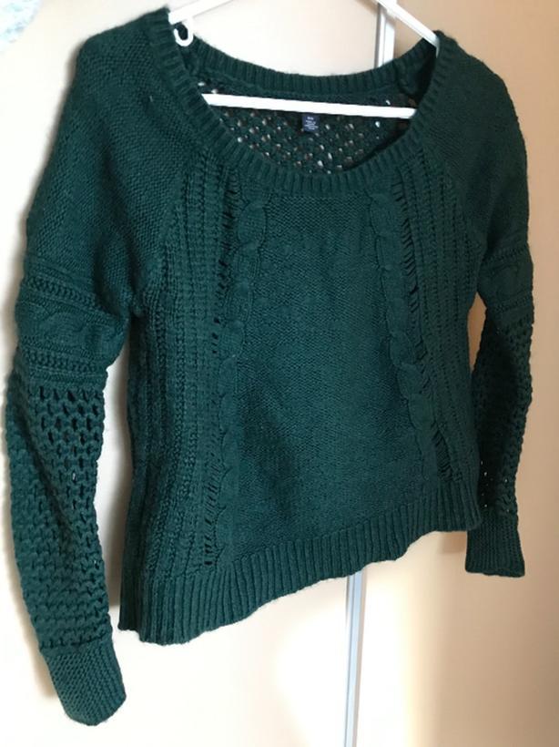 Womens Knit Green Sweater