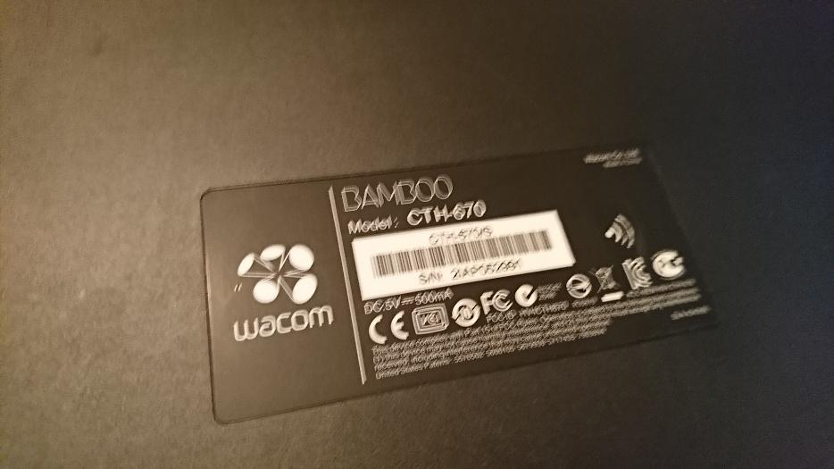 $40 · Wacom Bamboo CTH-670 USB Pen Tablet