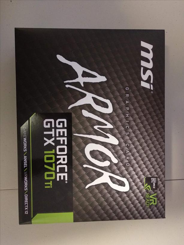 MSI GTX 1070 Ti ARMOR graphics card  Never used, original packaging