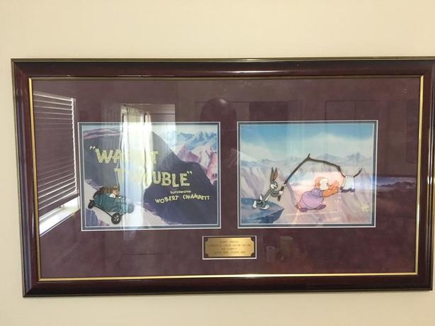Limited Edition!! Wabbit Twouble by Bob Clampett Hand Painted Cells Framed