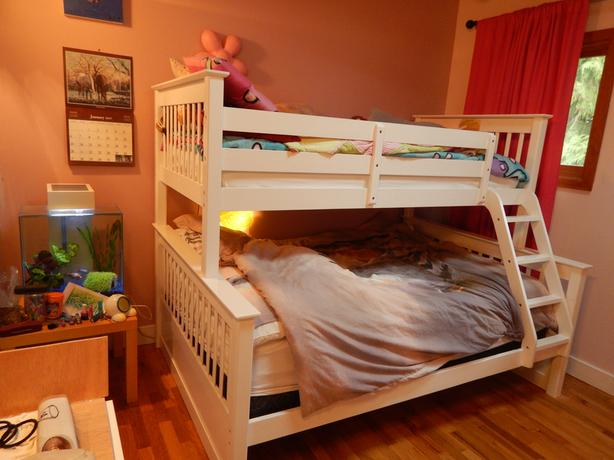 White Solid Wood Bunk Bed Saanich Victoria