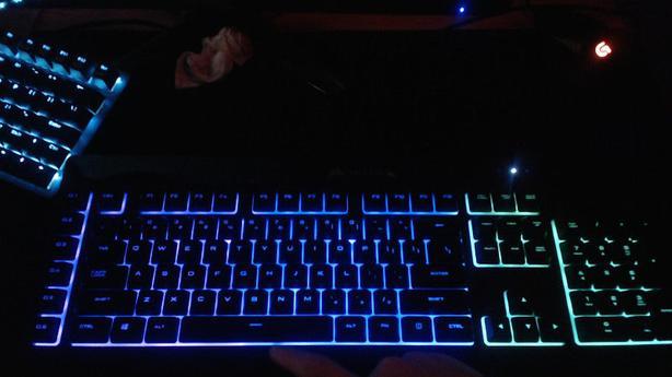 Gaming Keyboard! Corsair K55 rgb and mouse combo!