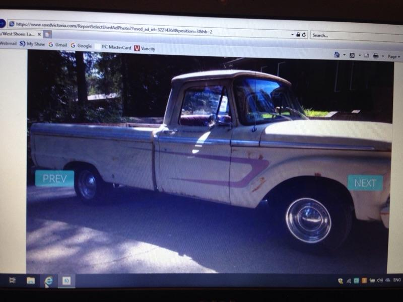 1966 Patina F100 Ford Outside Comox Valley Campbell River