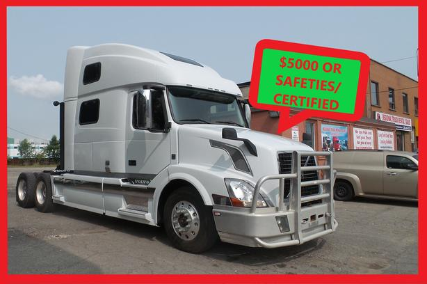 Volvo 2013 VNL64T 780 Free all Safeties/Certified or $5,000 Discount
