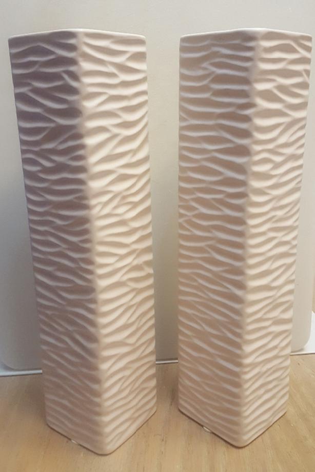New never used GlucksteinHome Suede Harmonie Ceramic Vases