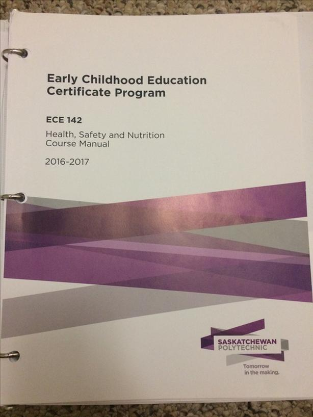 Early Childhood Education Certificate Program Course Manuals North