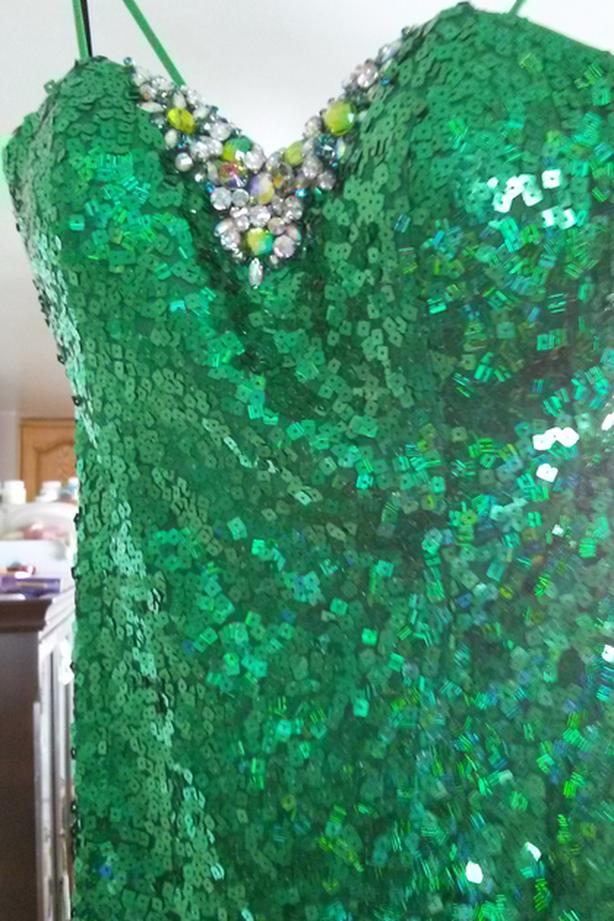 Green Emerald Sequined Dress