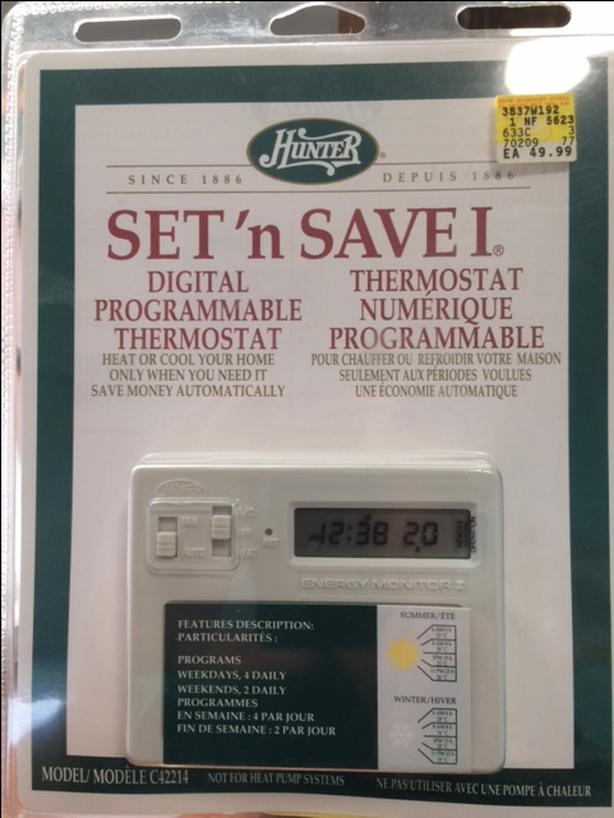 programmable thermostat never been opened/used